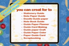 Procreate brush stamp Guide frame Christmas,Frame Christmas Product Image 3