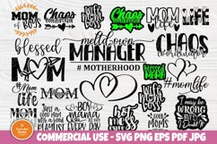 Mom Signs SVG Bundle, Funny Mom Shirt, Svg Cut Files Cricut Product Image 1