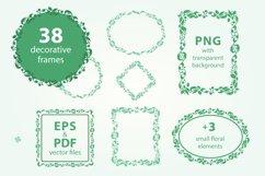 Pack of 100 Floral Frames, vector clipart bundle Product Image 2