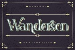 Wanderson | Classic Vintage Font Product Image 1