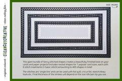 Stitched Nesting Shapes V2 Fancy Stitches   sketch foil SVG Product Image 2