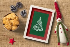 Christmas Tree SVG with Snowflakes for Silhouette and Cricut Product Image 2