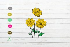 daisy flower svg cut file,daisy silhouette,flower svg file Product Image 1