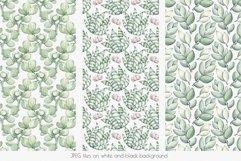 "Watercolor Pattern Set ""Succulents"" Product Image 4"