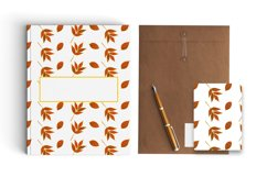 Autumn watercolor leaves pattern, seamless. Product Image 3