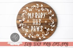 My Baby Has Paws SVG Product Image 5