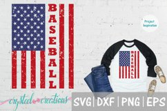 Baseball Flag SVG, DXF, PNG, EPS Product Image 1