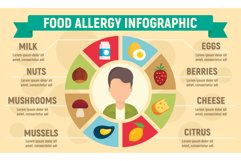 Food allergy infographic, flat style Product Image 1