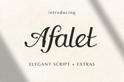 The Afalet font Product Image 1