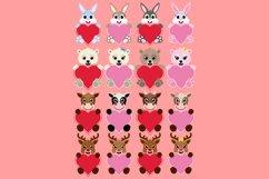 Valentine Heart Bundle Clipart, Conversation Hearts, PNG Product Image 6