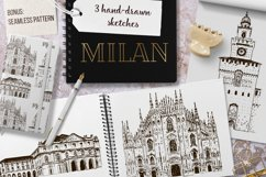 Set of Milan sketches Product Image 1