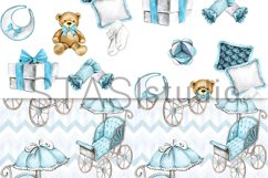 Baby Boy Paper Pack Blue Seamless Pattern New Baby Cute Set Product Image 5