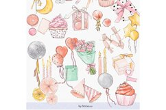 Happy birthday icons set Party Instagram highlight cover PNG Product Image 4