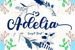 Adelia - A Modern Script Font Product Image 1