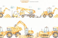 Construction machines watercolor Product Image 11