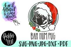 bah hum pug - christmas pug svg Product Image 1