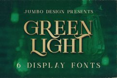 Green Light - Vintage Style Font Product Image 1