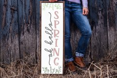 Oh Hello Spring SVG   Vertical Porch Sign   Farmhouse Style Product Image 3