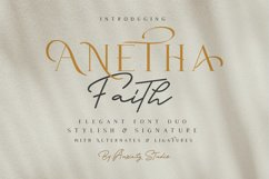 Anetha Faith Font Duo - Extras Logo Template Product Image 2