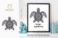 Turtle Mandala Svg Cut File, Turtle Svg, SeaTattoo Design Product Image 3