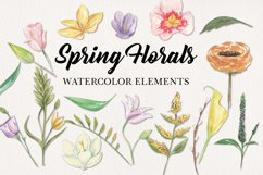 18 Spring Floral Blooms Clipart Watercolor Elements Pastels Product Image 1