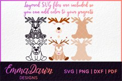 RUFUS THE REINDEER SVG CHRISTMAS MANDALA ZENTANGLE DESIGNS Product Image 2