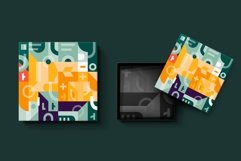 Square geometry pattern collection Product Image 3