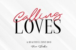 Calling Loves - Font Duo Product Image 1