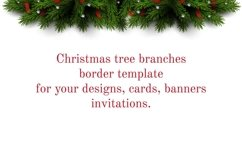 Christmas tree branches border template Product Image 1