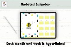 Fun Undated Weekly Digital Planner PDF CLICKABLE links v4 Product Image 2