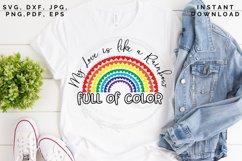 Love like a Rainbow SVG, Valentine's cut file, Love svg Product Image 3