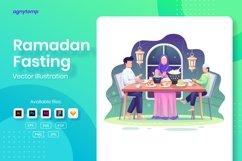 Ramadan Fasting concept flat Illustration Product Image 1