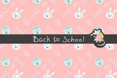 Back to School Digital Paper, School girl paper Product Image 3