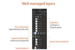 Samsung Galaxy J7 Pro 3dCase Design Mockup Back Product Image 4