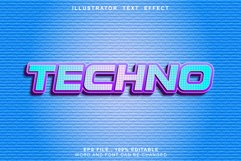techno text effect editable Product Image 1