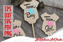 Team Boy Svg & Team Girl Svg Gender Reveal Svg Pregnancy Svg Product Image 3