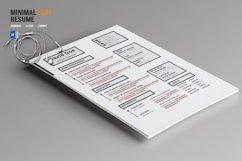Minimal Flat Resume Template Product Image 3