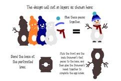 Snowman, Christmas egg holder design SVG / DXF / EPS files Product Image 2