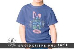 No Bunny Loves Me Like Jesus SVG | | Bunny Ears Easter SVG Product Image 2