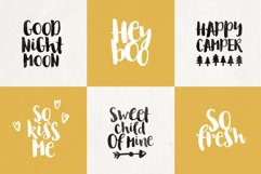 August Boy - Modern, bold, brush font  dingbat clipart Product Image 3