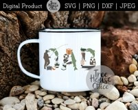 Fishing Dad Father's Day Fisherman Fish Gear SVG PNG JPEG Product Image 5