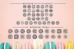Circle Monogram Font | 20 Monogram Frames Bonus Included Product Image 2