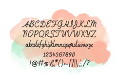 Amie - a sweet, handwritten, cursive font Product Image 2