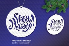 Happy Holidays SVG lettering, New Year festive design Product Image 1