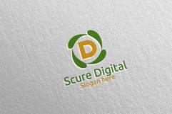 Secure Digital Letter D Digital Marketing Logo 80 Product Image 2