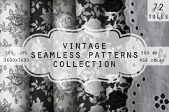 Collection of vintage floral seamless patterns. Product Image 1