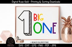 Big One - First Birthday SVG, Baby 1st Birthday Party Decor Product Image 1