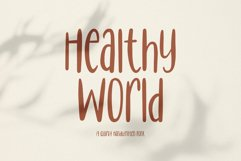 Healthy World // Handwritten Font Product Image 1