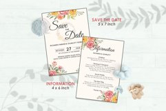 Wedding Invitation Set #3 Watercolor Floral Flower Style Product Image 3
