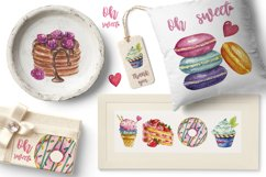 Sweets Confectionery watercolor clipart. Donat day clip art Product Image 5